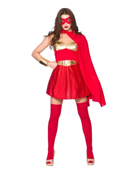 Kvinnlig superhjältedräkt